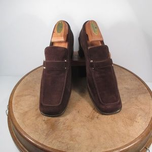 Gucci Brown Suede Square toe 8B